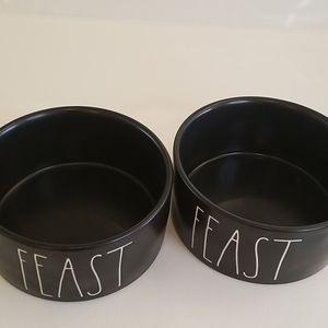 "Rae Dunn Other - NEW Rae Dunn ""Feast"" Pet Bowls - Set of 2"